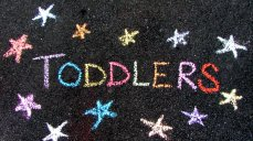 Chalk Toddlers Stars